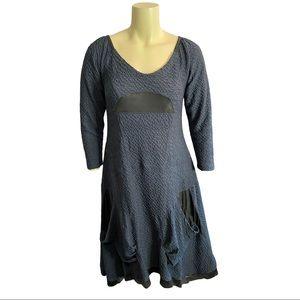 Toni T Navy Textured Dress Size 1X
